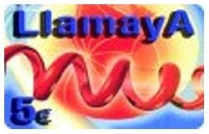 Tarjeta prepago para recargar móvil Llamaya