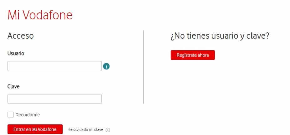 Recargar móvil con aplicación Vodafone