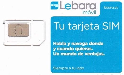 Recargar móvil Lebara con tarjeta SIM