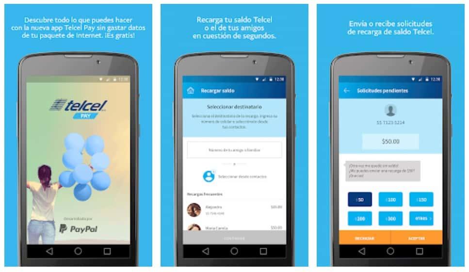aplicación para recargar móvil con PayPal