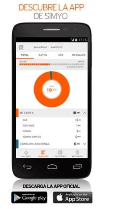 Recargar móvil Simyo desde la app