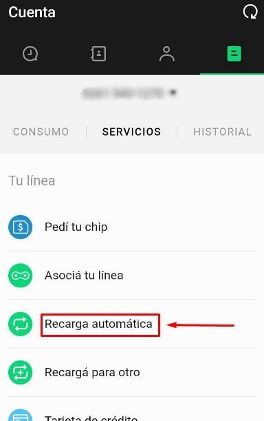 Recargar móvil tuenti automáticamente