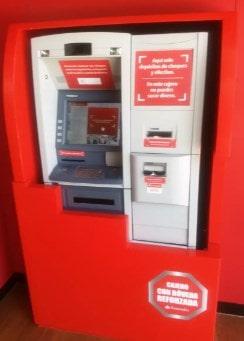 Recargar móvil Santander desde cajeros automáticos