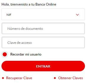 Entra para recargar móvil Santander