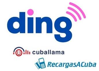 recargar móvil a Cuba con ding