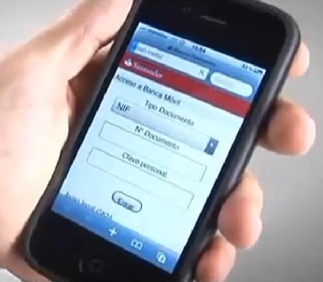 aplicación Banco Santander móvil