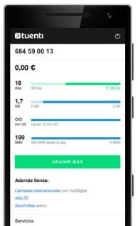 Recarga tu móvil desde la aplicación de Tuenti