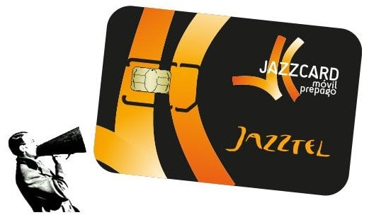 Recargar tarjeta SIM Jazzcard Móvil Prepago