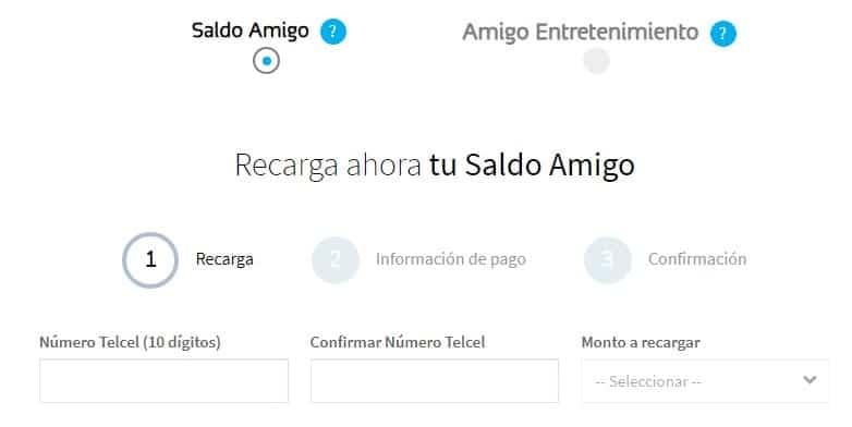 recargar Telcel online