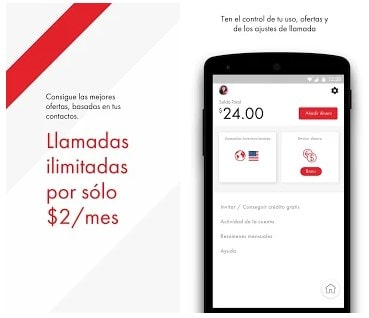 Recarga celular Rebtel con la app
