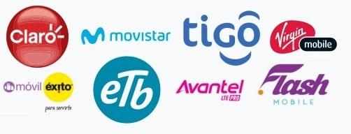 Operadoras para recargar móvil a Colombia