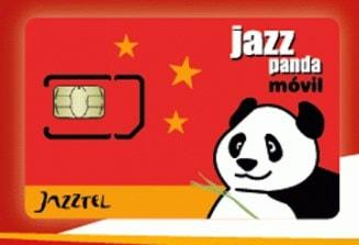 Tarjeta prepago Jazzpanda Móvil