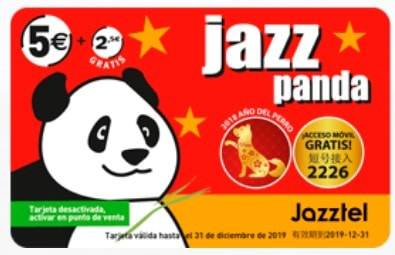 Tarjeta Internacional Jazzpanda