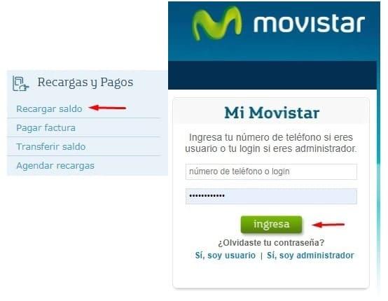 Recarga online Movistar