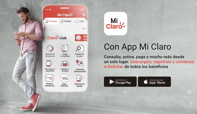 aplicación móvil para recargar claro